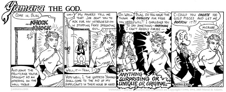 Yamara The God, Part 3: Blag
